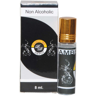 Amber Oudh 8Ml Non Alcoholic Attar- Essential Oil
