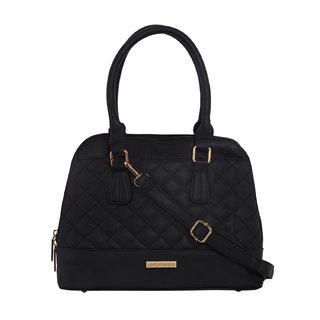 Lino Perros Charismatic Leatherite Black Handbag