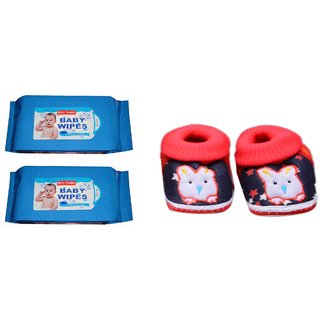 Baby tender wipes with free 0 size shoes