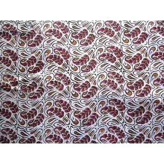 Jaipuri Hand Block Printed Cotton Booti Printed 2.5 Meter Fabric