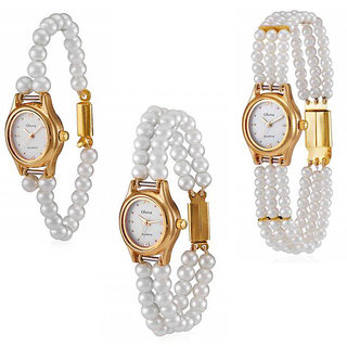 Oleva Set Of 3 Ladies Pearl Watch Ord 2