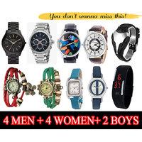 4 Men Watches + 4 Women Watches + 2 Boys Watches