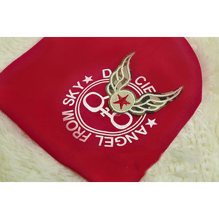 KOREAN Winter Caps For Kids - 705 Red With Wings