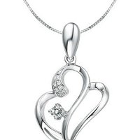 Kaara's Real Diamond Heart Valentine Pendant Design-5