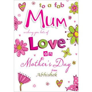 Personalised Card for Best Mum