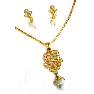 Exclusive Designer Pearl Pendant Set