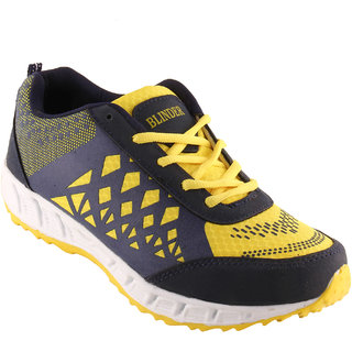 BLINDER Yellow and Navy blue Sport Shoes
