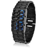 BLUE LED Digital Watch Cum Bracelet For Mens (V172)