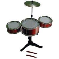 Cool Rock Drums Toy Set For Kids(3 Drums 2 Sticks)