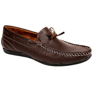 Sukun Mens Brown Loafers