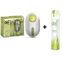 Combo Of Godrej Car Ac Vent Perfume (Green) +Godrej Car,Home Air Spray (Green)