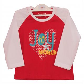 Joy to the world - Christmas Theme Raglan Style Baby T-Shirt