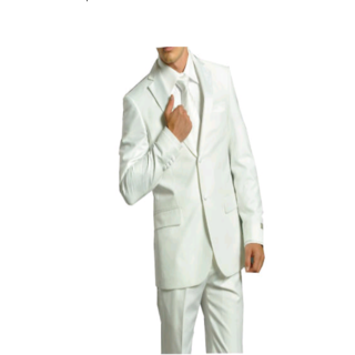 GWALIOR SUITING PREMIUM WHITE SUIT LENGTH 3 METRE