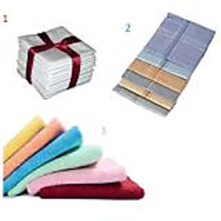 White / Colored / Ladies handkerchief - 12 Pc