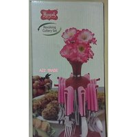 Royal Cutlery Set With Stand - 24 Pcs On 50% Off