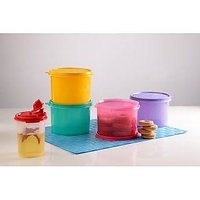 TUPPERWARE STORE ALL CANISTER 4PC AND 1 MINI MAGIC FLOW