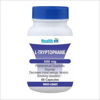 Healthvit L- Tryptophane 500Mg 60 Capsules