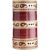 Ambitione Red and Gold Jeweled Bridal Chuda