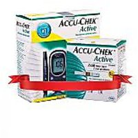 Accu Chek Active Meter Only +  Active 100 Test Strips Combo