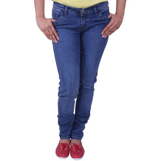 Austrich Blue Cotton Jeans