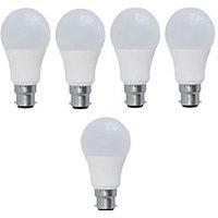 7 W White Led Bulb (Set Of 5)