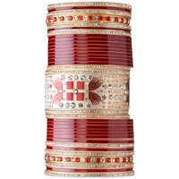 Ambitione Red  Gold Jeweled Bridal Chuda