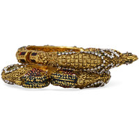 Ambitione Peacock Fashionable Bangle Pair