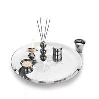Classic Essentials Stainless Steel Puja Thali (Set Of 6 Pcs Magic Range)
