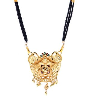 GoldPlated Elegant Designer Mangalsutra with Chain by GoldNera