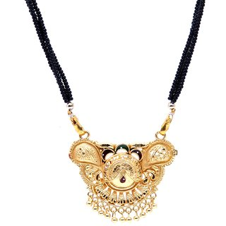 GoldPlated Auspicious Pretty Designer Mangalsutra with Chain by GoldNera