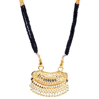 GoldPlated Traditional Designer Mangalsutra with Chain by GoldNera