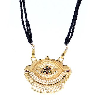 GoldPlated Auspicious Ethnic Mangalsutra with Chain by GoldNera