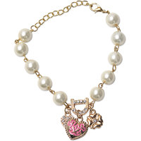 Ambitione Bohenmia Heart D Letter with Floral Pearl Bracelets