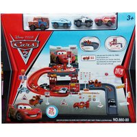 Kiditos Disney McQueen Mater Car Park Garage Racing Track Toy FREE SHIPPING