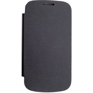 Micromax Canvas HD A116 Flip Cover Black available at ShopClues for Rs.175