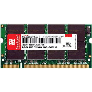 SIMMTRONICS Laptop RAM DDR1 1 GB 266Mhz