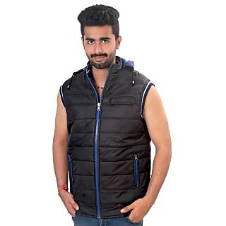 half jacket  Half Jacket with Detachable Hood and both side wear for Men: Buy ...