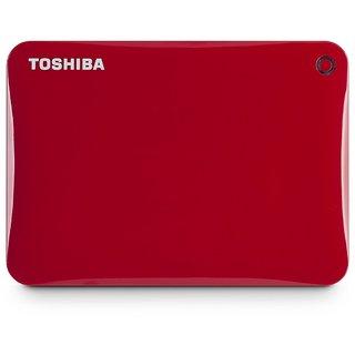 Toshiba CANVIO Connect II 1TB Portable Hard Drive, Red (HDTC810XR3A1) Image