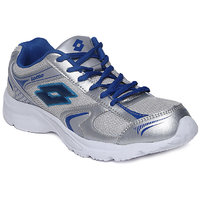 Lotto Mens Silver,Blue Lace-up Running Shoes