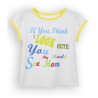 Lilliput White Printed Casual Cute T-Shirt (8907264054546)