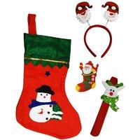 Santa Stocking Santa Hair Band, Wrist Band,Hair Band, LED Light Santa Badge - 84378770