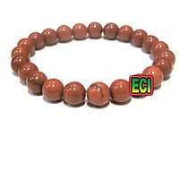 CROWN Brand - Original Red Jasper Gemstone Bracelet Semiprecious Stone Beads