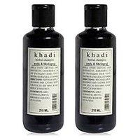 Khadi Herbal Amla  Bhringraj Shampoo- Sls  Paraben Free - 210ml (Set Of 2)