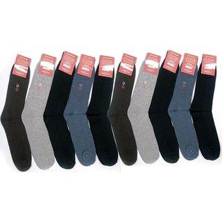 Crystal Pack Of 10 Premium Long Socks For Men