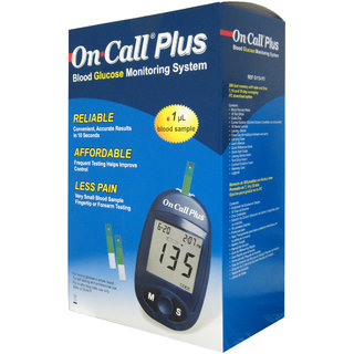 On Call Plus Glucometer Starter Kit with 10 Strips
