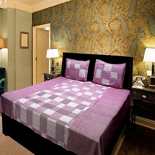 Akash Ganga Very Beautiful Double Bedsheet (KMN566)