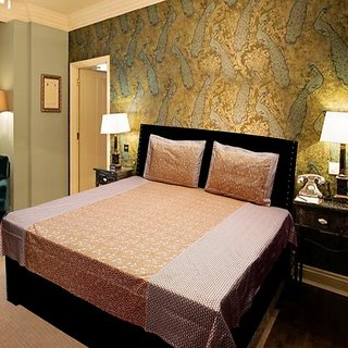 Akash Ganga Brown Cotton Double Bedsheet (KMN572)