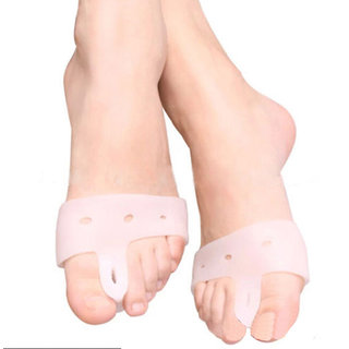 Silicone toe separator with forefoot pad for corn protection 1pair bunionrelief