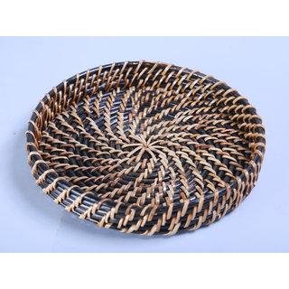 Cane round tray