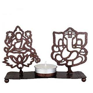 Designer Bronze Ganesh Laxmi Diya